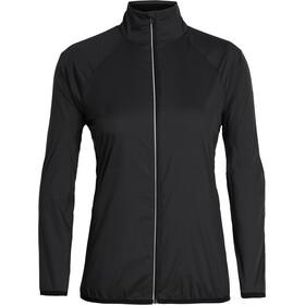Icebreaker Rush Windbreaker Jacket Dame Black